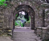 Antyczne ruiny Irlandia fotografia royalty free