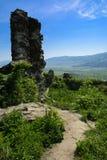 Antyczne ruiny kasztel miasteczko Khust & x28; Dracula kasztel obraz stock