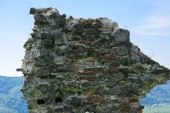 Antyczne ruiny kasztel miasteczko Khust & x28; Dracula kasztel obrazy royalty free