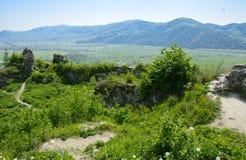 Antyczne ruiny kasztel miasteczko Khust & x28; Dracula kasztel zdjęcia royalty free