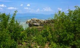 Antyczne ruiny kasztel miasteczko Khust & x28; Dracula kasztel zdjęcie stock