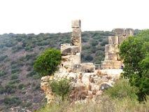 Antyczne ruiny Montfort zdjęcia stock