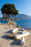 Antyczne ruiny na Kos wyspie, Grecja obraz stock