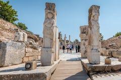 Antyczne ruiny przy Ephesus dziejowym antycznym miastem obraz stock