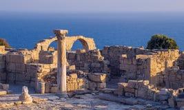 Antyczne ruiny przy Kourion, Cypr zdjęcie royalty free