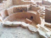 Antyczne ruiny przy mesy Verde parkiem narodowym fotografia royalty free