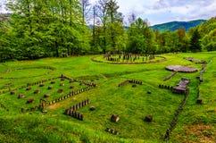 Antyczne ruiny przy Sarmizegetusa Regia, Transylvania, Rumunia obrazy stock