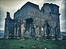 Antyczne ruiny stara nawiedzająca katedra obraz royalty free