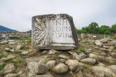 Antyczne ruiny Ulpia Traiana Augusta Dacica Sarmizegetusa w Rumunia Zdjęcia Stock