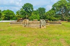Antyczne ruiny w Anuradhapura Zdjęcie Stock