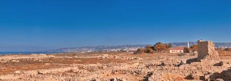 Antyczne ruiny w Kato Paphos Archeologicznym parku na Cypr Zdjęcie Stock