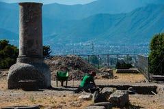 Antyczne ruiny w Pompeii, Napoli, Włochy obrazy stock