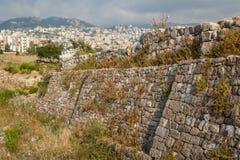 Antyczne ruiny wokoło kasztelu Byblos obraz stock