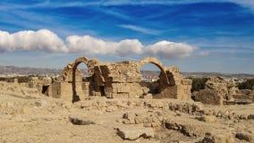 Antyczne ruiny zbliżają poruszającego charakter Zdjęcie Stock