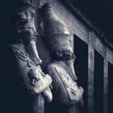Antyczne rzeźby Hatshepsut świątynia Zdjęcia Stock
