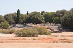 Antyczne rzymianin ruiny. Brijuni. Chorwacja Obraz Royalty Free