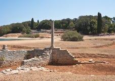 Antyczne rzymianin ruiny. Brijuni. Chorwacja Obraz Stock