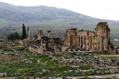 Antyczne rzymskie Volubils ruiny, mozaiki i zdjęcie royalty free