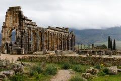 Antyczne rzymskie Volubils ruiny, mozaiki i obraz royalty free