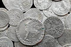 Antyczne srebne średniowieczne monety Fotografia Stock