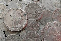 Antyczne srebne średniowieczne monety Obraz Royalty Free