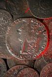 Antyczne srebne średniowieczne monety Zdjęcia Royalty Free