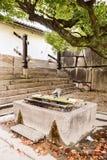 Antyczne wodne studnie na inside Oteguchi wejściowa brama fotografia royalty free