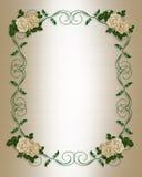antyczne zaproszenie poślubić róże Zdjęcie Royalty Free