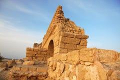 antycznego akweduktu ceasarea Israel stary rzymski zdjęcie royalty free