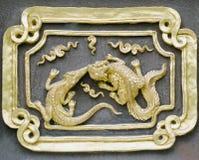 antycznego antykwarskiego świątynnego th tajlandzka ściana Zdjęcie Royalty Free