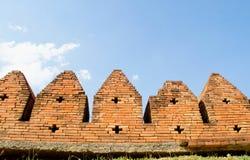 antycznego ceglanego miasta stara ściana Fotografia Royalty Free