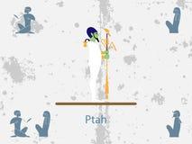 Antycznego Egypt tła thoth Bóg Antyczny Egipt Bóg rzemieślnicy i architekci royalty ilustracja