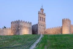 Antycznego miasta ściana w Avila, Hiszpania Obrazy Royalty Free