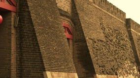 Antycznego miasta wielkiego muru tekstura Wietrzenie kamieniarstwo zbiory