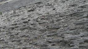 Antycznego miasta wielkiego muru tekstura Wietrzenie kamieniarstwo zdjęcie wideo