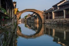 Antycznego miasteczka krajobraz w Nanxun Zdjęcie Stock