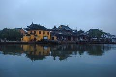 Antycznego miasteczka krajobraz w Suzhou Obraz Stock