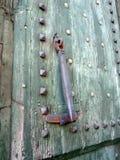 Antycznego obsady żelaza Drzwiowy Knocker, Rzym, Włochy obraz royalty free