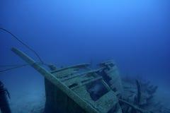 antycznego statku podwodny wrak Obrazy Royalty Free