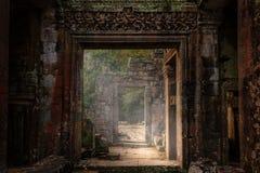 Antycznej świątyni ruiny Khan Pre, Kambodża Zdjęcie Royalty Free