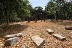 Antycznej świątyni ruiny Sabashalawa przy Sigiriya w Sri Lanka Obrazy Royalty Free