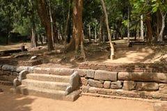 Antycznej świątyni ruiny Sabashalawa przy Sigiriya w Sri Lanka Obraz Stock