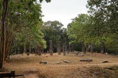 Antycznej świątyni ruiny Sabashalawa przy Sigiriya w Sri Lanka Zdjęcie Stock