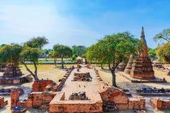 Antycznej świątyni ruiny w Ayutthaya Obraz Stock