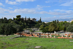 Antycznej agory archeologiczny miejsce Zdjęcia Stock