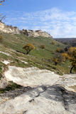 Antycznej jamy grodzki Kale, Bakhchysarai, Crimea Obraz Stock