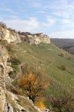 Antycznej jamy grodzki Kale, Bakhchysarai, Crimea Zdjęcia Royalty Free