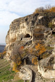 Antycznej jamy grodzki Kale w Crimea Obraz Stock