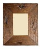 antycznej ramy odosobniony obrazka biel drewniany Zdjęcia Stock
