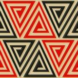 Antycznej trójbok spirali bezszwowy wzór Fotografia Stock